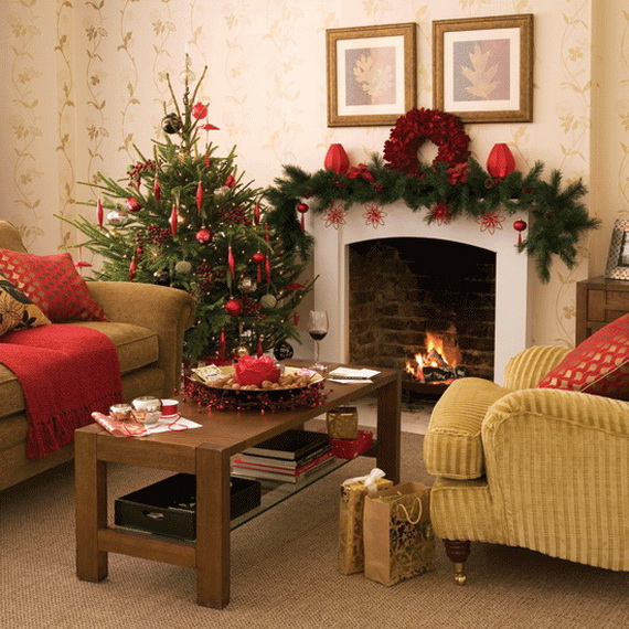 60 elegant christmas country living room decor ideas Christmas decoration in living room