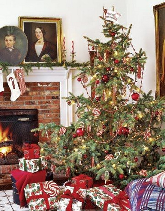elegant christmas country living room decor ideas_58 - Country Christmas Tree Decorating Ideas