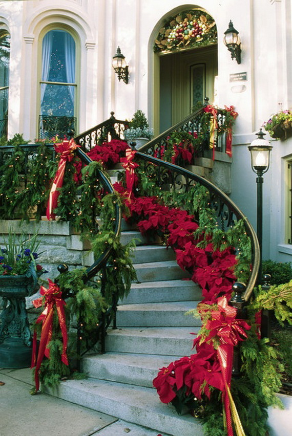 50 fresh festive christmas entryway decorating ideas Traditional outdoor christmas decorations
