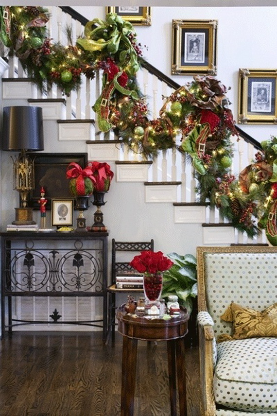 fresh festive christmas entryway decorating ideas_41 - Christmas Decorating Ideas For Foyer