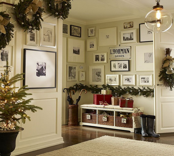50 fresh festive christmas entryway decorating ideas Entry hall decorating ideas pictures
