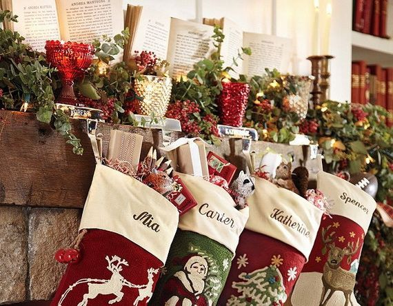 gorgeous fireplace mantel christmas decoration ideas _02 - Christmas Fireplace Decorating Ideas