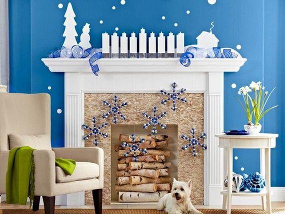 Gorgeous Fireplace Mantel Christmas Decoration Ideas _03
