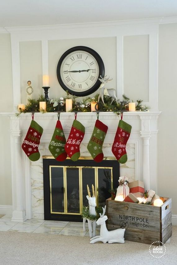 Gorgeous Fireplace Mantel Christmas Decoration Ideas _18