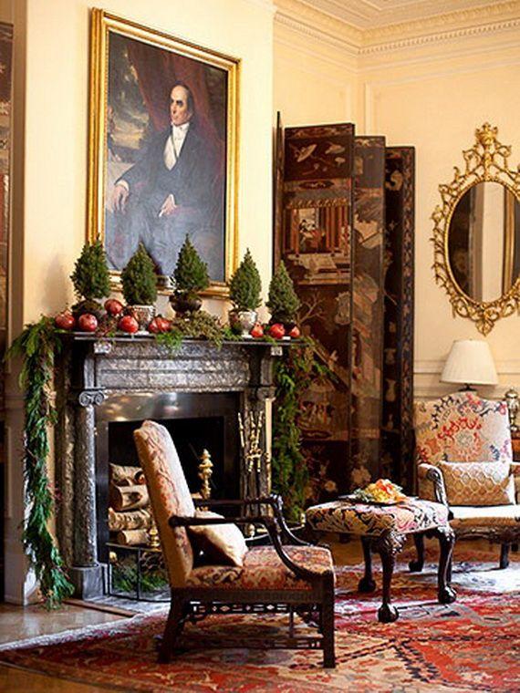 Gorgeous Fireplace Mantel Christmas Decoration Ideas _21