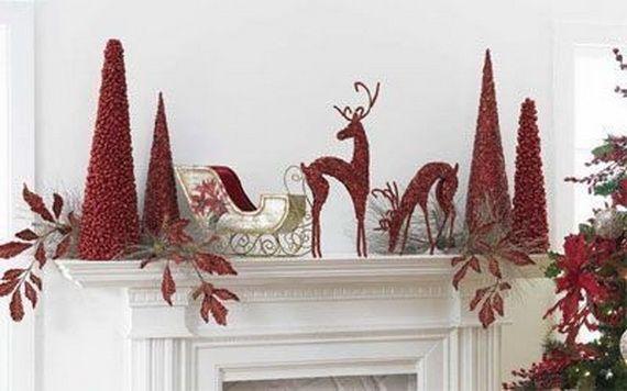 Gorgeous Fireplace Mantel Christmas Decoration Ideas _22