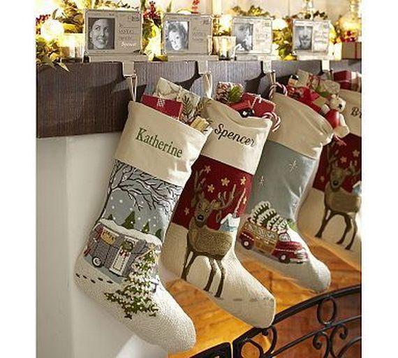 Gorgeous Fireplace Mantel Christmas Decoration Ideas _29