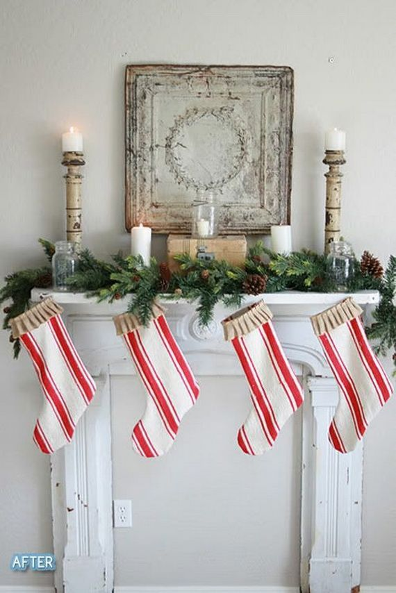gorgeous fireplace mantel christmas decoration ideas _31