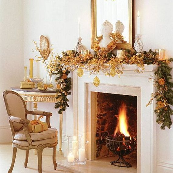 gorgeous fireplace mantel christmas decoration ideas _38 - How To Decorate A Fireplace Mantel For Christmas