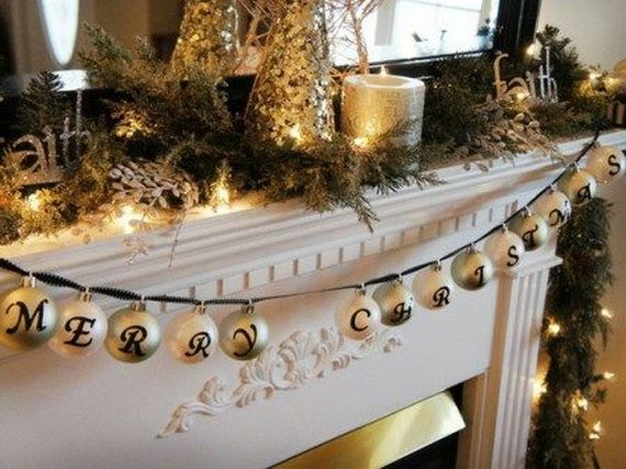Gorgeous Fireplace Mantel Christmas Decoration Ideas _39