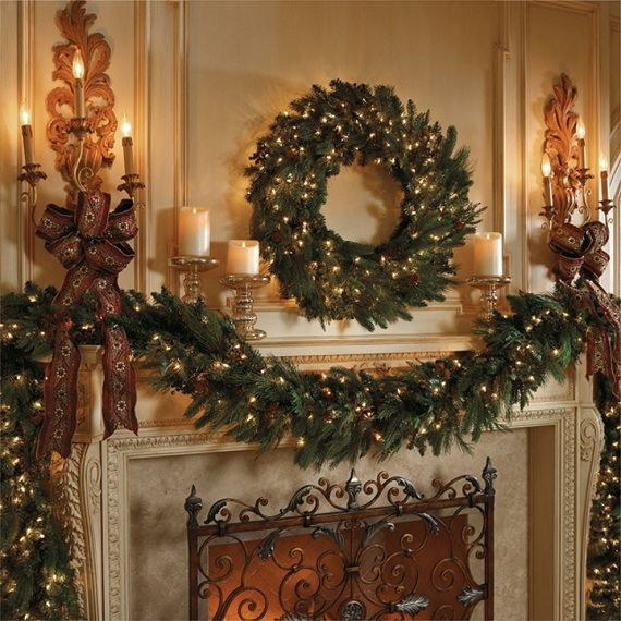 gorgeous fireplace mantel christmas decoration ideas _47 - Fireplace Mantel Christmas Decor