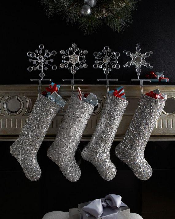 Gorgeous Fireplace Mantel Christmas Decoration Ideas _54