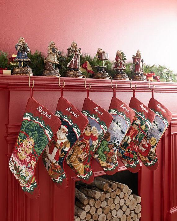 Gorgeous Fireplace Mantel Christmas Decoration Ideas _59