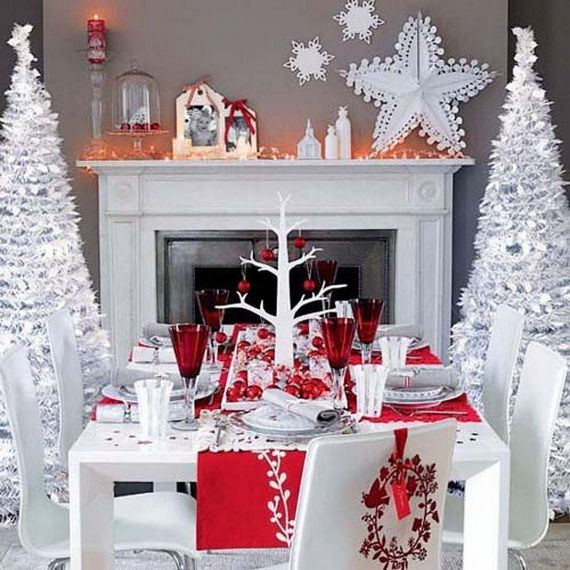 gorgeous fireplace mantel christmas decoration ideas _67 - How To Decorate A White Fireplace Mantel For Christmas