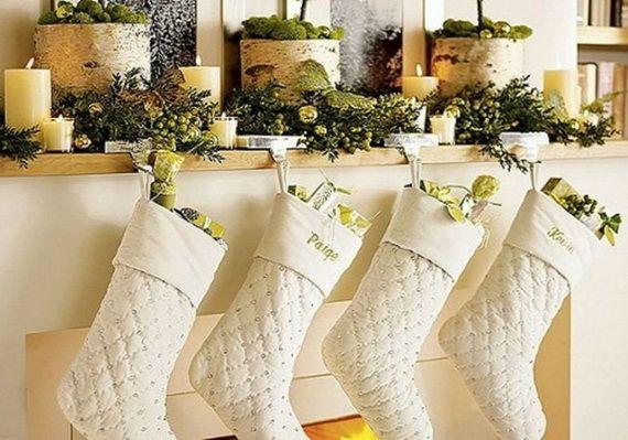 Gorgeous Fireplace Mantel Christmas Decoration Ideas _71