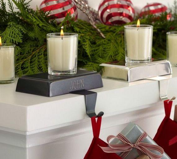 Gorgeous Fireplace Mantel Christmas Decoration Ideas _75