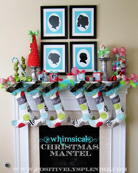 Gorgeous Fireplace Mantel Christmas Decoration Ideas _80