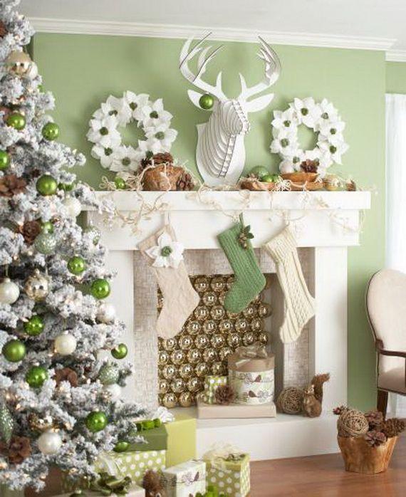 Gorgeous Fireplace Mantel Christmas Decoration Ideas _81
