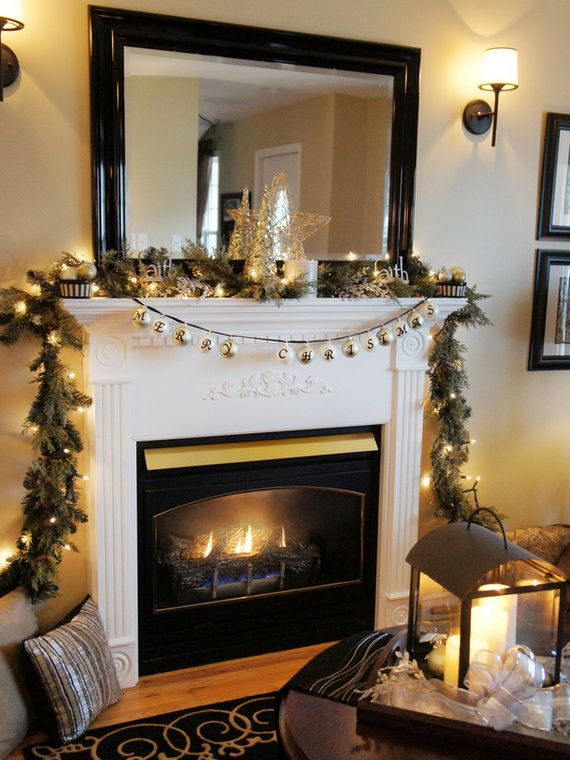 Gorgeous Fireplace Mantel Christmas Decoration Ideas _82  SONY DSC