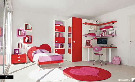 Heart Themed Interior Decor Kids Room Ideas_02