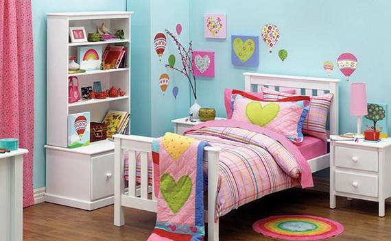Heart Themed Interior Decor Kids Room Ideas_13