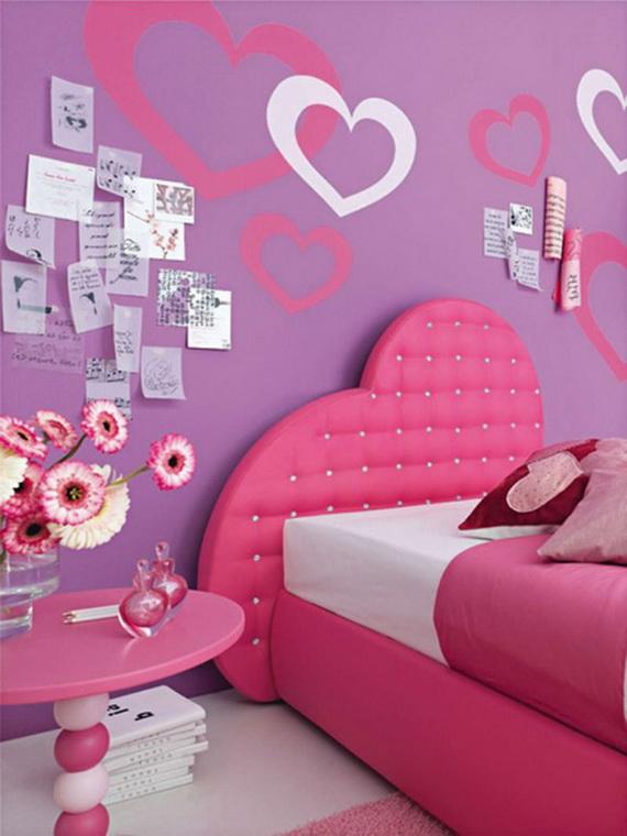 Heart Themed Interior Decor Kids Room Ideas_21