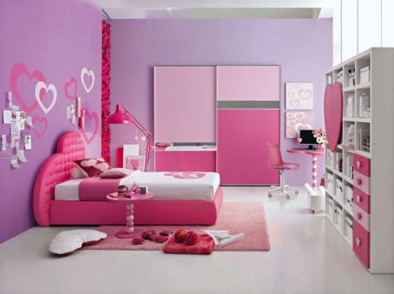 Heart Themed Interior Decor Kids Room Ideas_22