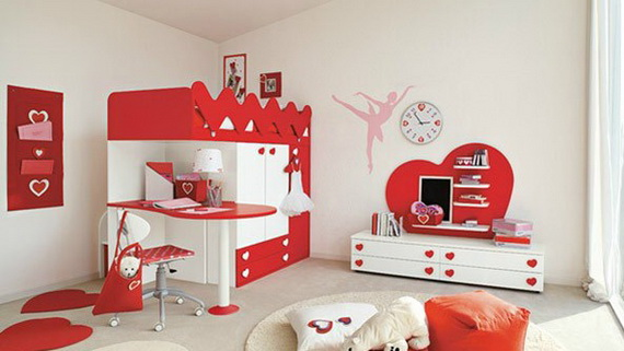 Heart Themed Interior Decor Kids Room Ideas_25
