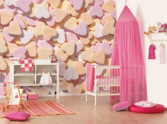 Heart Themed Interior Decor Kids Room Ideas_27