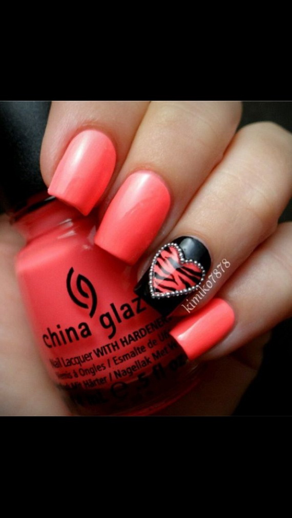 70 Lovely Valentine's Day Inspired Nail Art Ideas_02