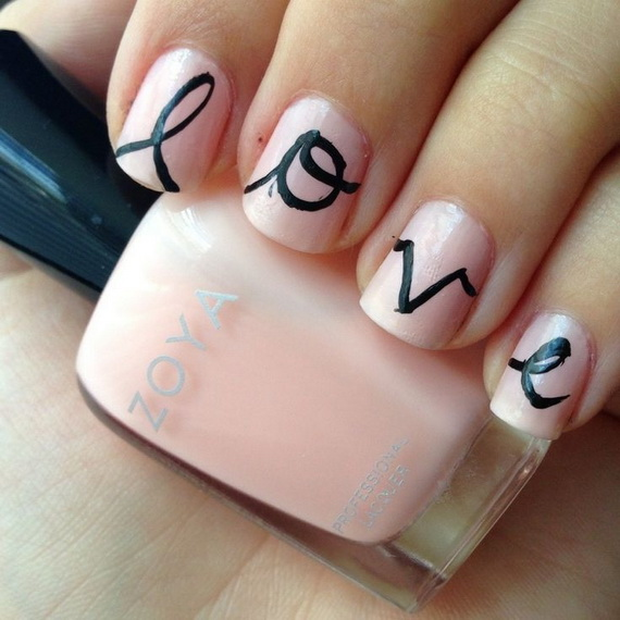 70 Lovely Valentine's Day Inspired Nail Art Ideas_05
