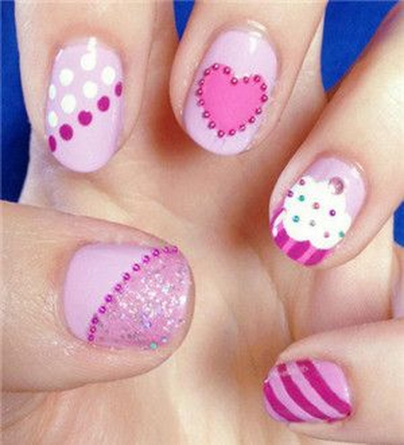 70 Lovely Valentine's Day Inspired Nail Art Ideas_11
