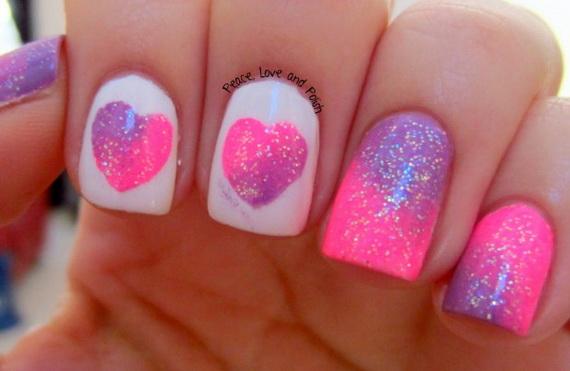 70 Lovely Valentine's Day Inspired Nail Art Ideas_16