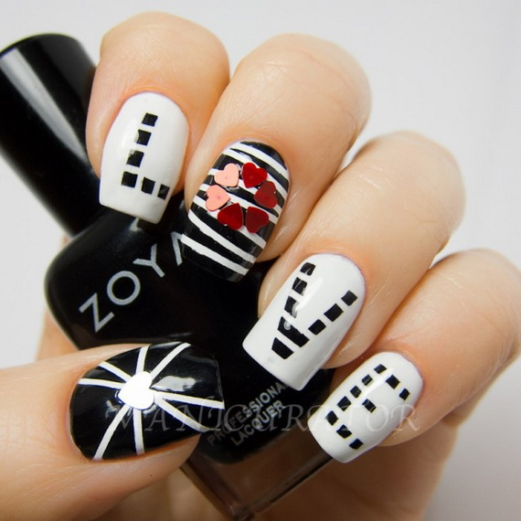 70 Lovely Valentine's Day Inspired Nail Art Ideas_18