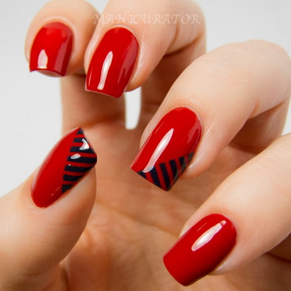 70 Lovely Valentine's Day Inspired Nail Art Ideas_21