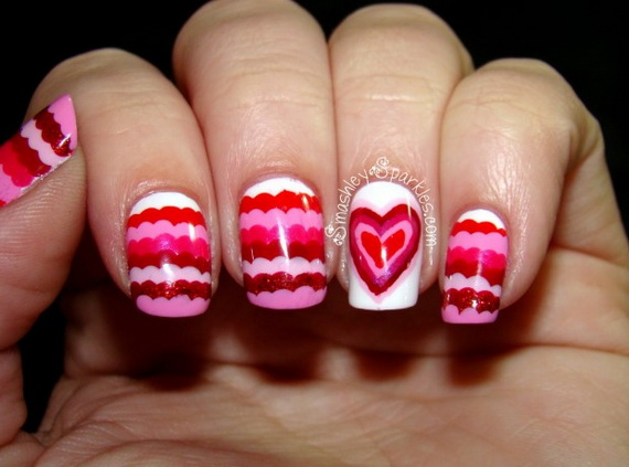 70 Lovely Valentine's Day Inspired Nail Art Ideas_23