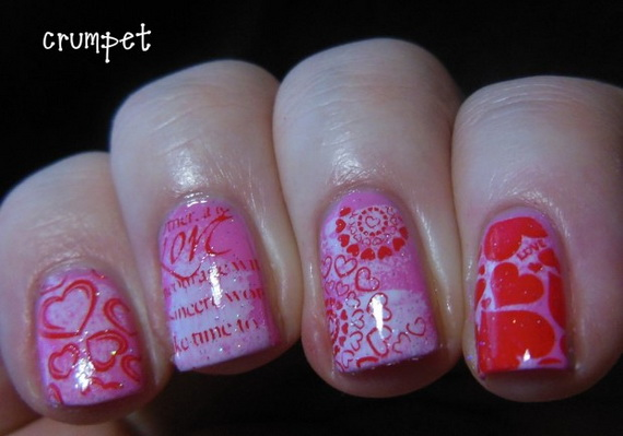 70 Lovely Valentine's Day Inspired Nail Art Ideas_26