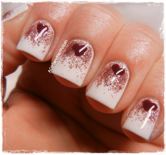 70 Lovely Valentine's Day Inspired Nail Art Ideas_32