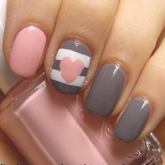 70 Lovely Valentine's Day Inspired Nail Art Ideas_35