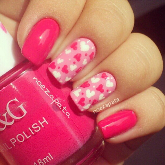 70 Lovely Valentine's Day Inspired Nail Art Ideas_36