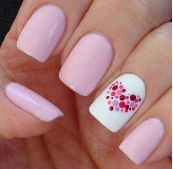 70 Lovely Valentine's Day Inspired Nail Art Ideas_37