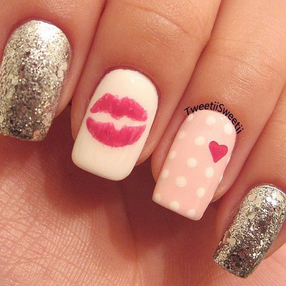 70 Lovely Valentine's Day Inspired Nail Art Ideas_43