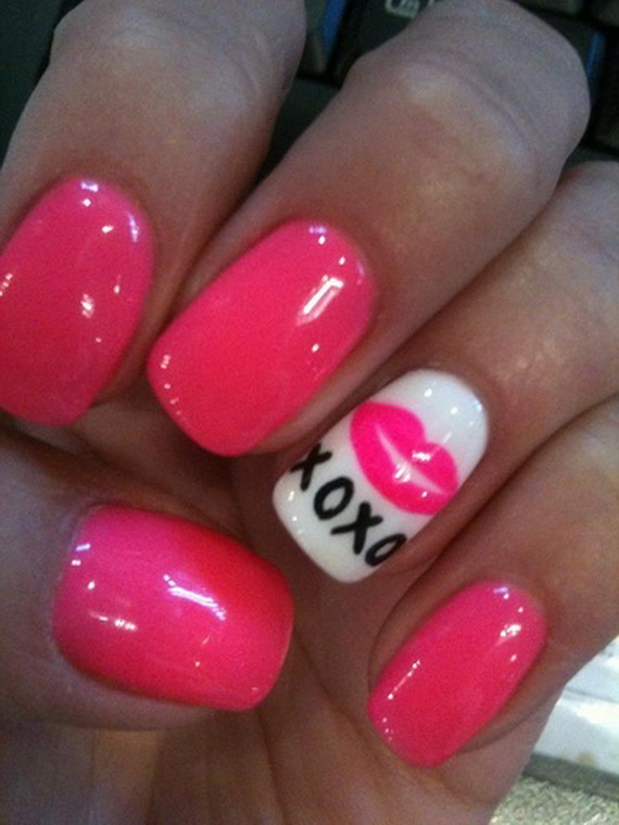 70 Lovely Valentineu0027s Day Inspired Nail Art Ideas_45