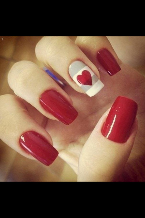 70 Lovely Valentine's Day Inspired Nail Art Ideas_49