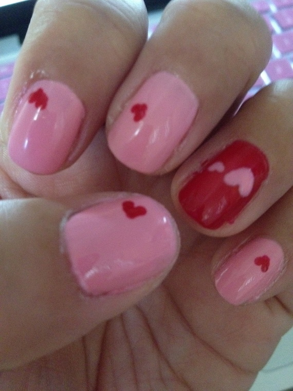70 Lovely Valentine's Day Inspired Nail Art Ideas_50