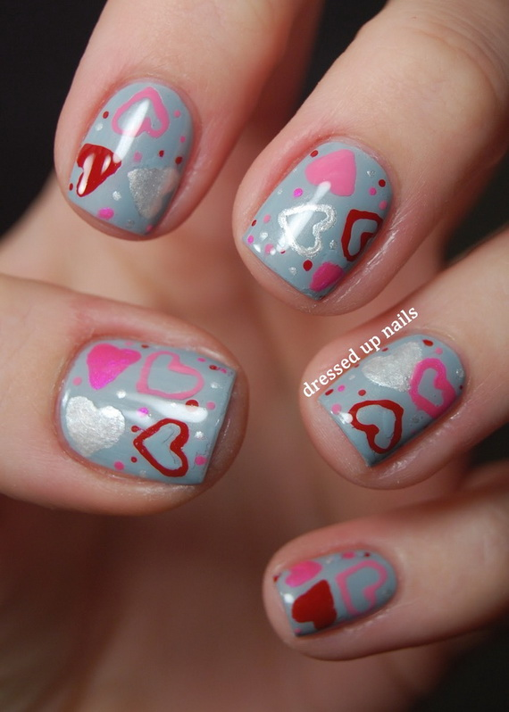 70 Lovely Valentine's Day Inspired Nail Art Ideas_52