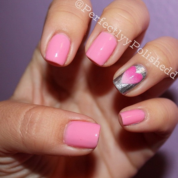 70 Lovely Valentine's Day Inspired Nail Art Ideas_65