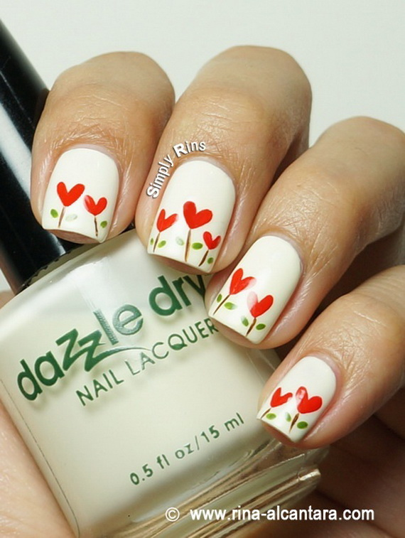 70 Lovely Valentine's Day Inspired Nail Art Ideas_67