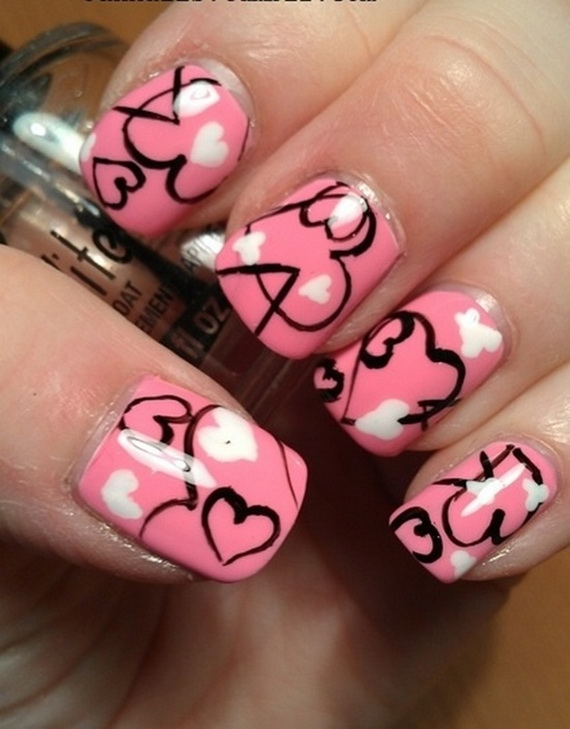 70 Lovely Valentine\'s Day Inspired Nail Art Ideas - family holiday ...