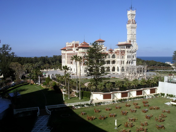 A view of the Montazah Palace from our hotel room